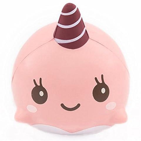 zahuihuiM Nettes 9CM weiches Karikatur Form langsames aufsteigendes Squeeze Spielzeug *! (Rosa) (Mango Brot)