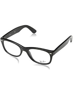 Ray-Ban New Wayfarer Monturas de gafas, Rectangulares, 52, Shiny Black