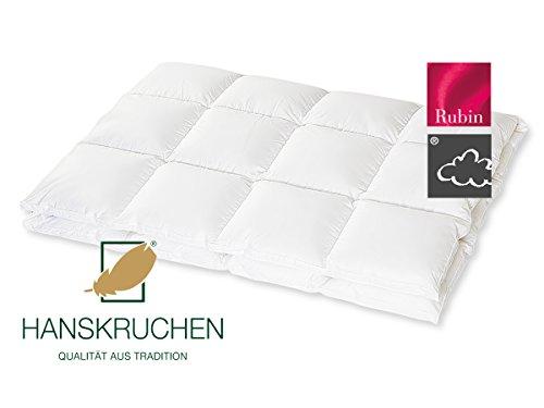 Hanskruchen Duvet avec piquage à, 100% Duvet, Blanc, 200 x 200 cm