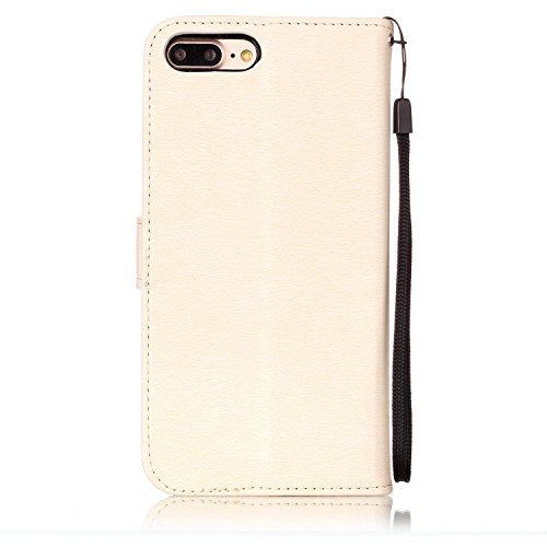 Cover iPhone 7 Plus 8 Plus, Sportfun Custodia Portafoglio In Pelle Con Wallet Case Cover Per iPhone 7 Plus 8 Plus con Porta Carte e Funzione Stand (05) 02