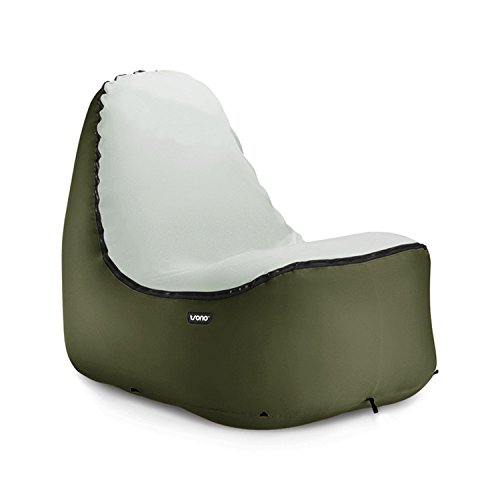 Design Luftsessel | MINIMALES Gewicht bei MAXIMALEM Komfort | selbstaufblasend | outdoor | camping | strand | pool (grün)
