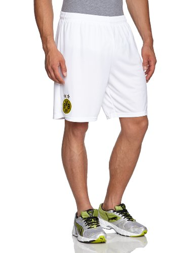 PUMA Herren Hose BVB Third Replica Shorts, White-Dark Gray Heather-Dark Shadow, XXL