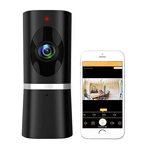 Wlan IP Kamera WIFI Überwachungskamera Innen Home Haustier Kamera Baby Monitor Smart Cloud Kamera mit Nachtsicht Bewegungserkennung 2 Wege Audio 180° Weitwinkel Fernalarm und Mobile App Kontrolle (Upgrated)