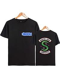 ZIGJOY Riverdale High Camisa de Manga Corta Gráficos Ocasionales O-Neck Top Tees JRhmd81