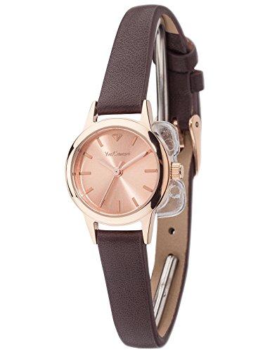 Yves Camani Gardanne - Reloj para mujer, color rosa / marrón
