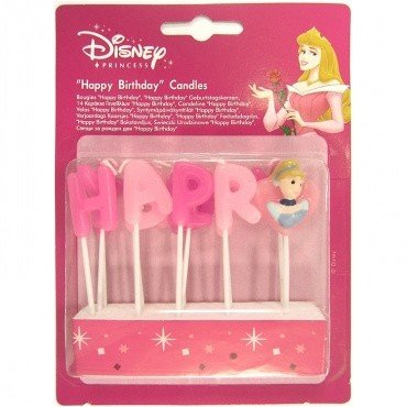 Disney Princess 'Happy Birthday' Kerzen