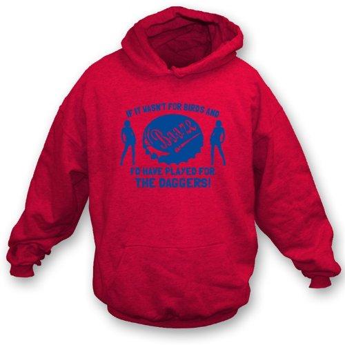 Wenn es nicht für Vögel und Schnäpse… das Xx-Große Dolch-mit Kapuze Sweatshirt war (Dolch Herren-t-shirt)