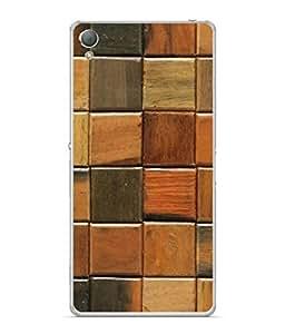PrintVisa Designer Back Case Cover for Sony Xperia Z3 :: Sony Xperia Z3 Dual D6603 :: Sony Xperia Z3 D6633 (Wooden Chequered Design)