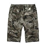 ODRD Herren Tactical Pants Workout JeansHerren Neue Sommer Camouflage Multi-Pocket Overalls Mode lässig Shorts Hosen Hose Jog