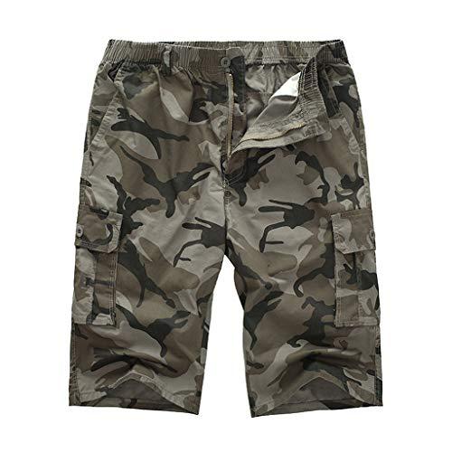 Bermudas Herren Sommer Camouflage GreatestPAK Cargo Kurze Hose Shorts Lose Einfarbig Outdoor Jogging Sports Tasche Arbeits Hosen,Gelb,EU:M(Tag:XL) Field-cargo-hose