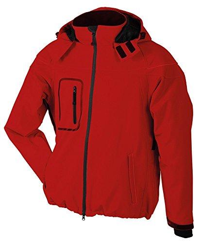 JN1000 Men's Winter Softshell Jacket Modische Winter Softshelljacke Red