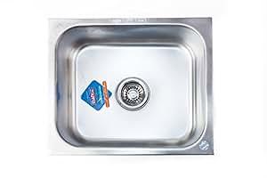 "Mankit Stainless Steel 24"" x 18"" Kitchen Sink Glossy"