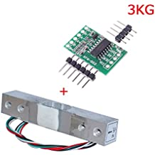 Aihasd Digital Load Cell Weight Sensor 3KG Portable Electronic Kitchen Scale + HX711 Weighing Sensors Ad Module for Arduino