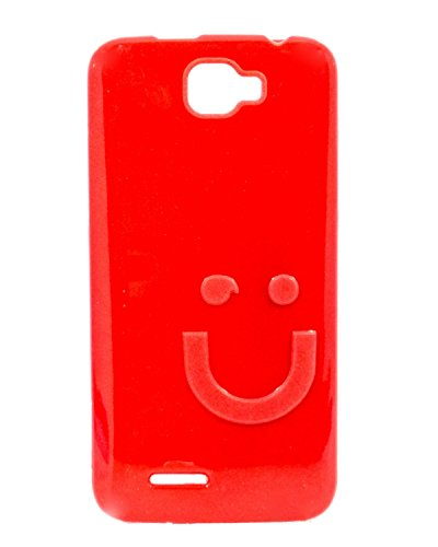 iCandy™ Imported Quality Soft TPU Smiley Back Cover For Micromax Canvas Mad A94 - Red  available at amazon for Rs.109