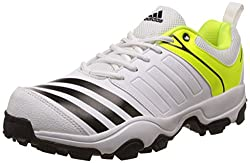 adidas Mens 22 Yards Trainer 17 Ftwwht, Cblack and Syello Cricket Shoes - 7 UK/India (40.67 EU)