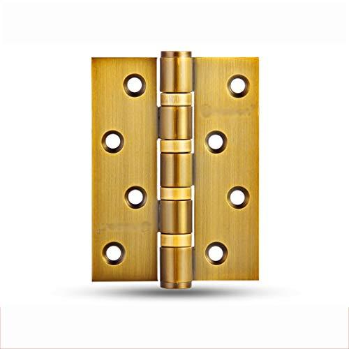 KQHSM Türscharnier Holztür 4 Zoll Sicherheitstürscharnier Holztürscharnier Edelstahltür Pendelscharnier 1 Stück (Color : E, Size : 6pcs)