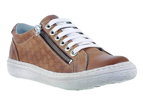 Chacal - Zapatillas de Deporte de Piel Lisa Mujer