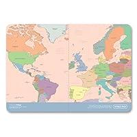 حامل جواز السفر على شكل خريطة العالم من إنديجو (ملونة)