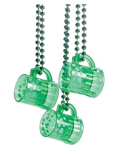 Horror-Shop St. Patrick's Day Glas mit Halskette