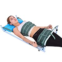HFYAK Back Lumbar Traction Device for Bed, Home Use Cervical Spine Extension Stretcher Device Improve Spine Posture Corrector
