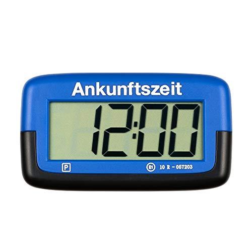 Needit PS1800 Park Micro vollautomatische Parkscheibe mit Zulassung I Digitale Parkuhr Mikro blau mit Batterie u. Montage Zubehör