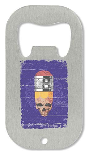 OpenWorld Halloween Pencil Skull Hipster Style Must Have Almost Flaschenöffner