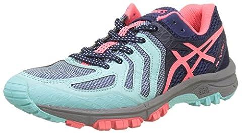 Asics Women's Gel-Fujiattack 5 Trail Running Shoes, Blue (Aqua Splash/Diva