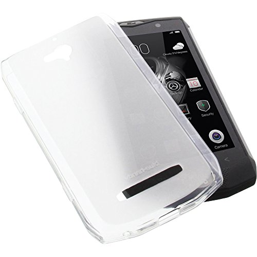 foto-kontor Tasche für Blackview BV8000 Pro Gummi TPU Schutz Handytasche transparent weiß