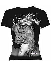 Official Merchandise Damen T-Shirt Schwarz Schwarz