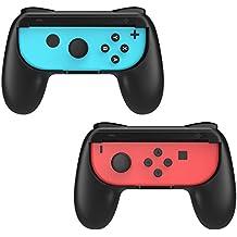 MoKo Nintendo Switch Joy-Con Gaming Controller -[2 Stück] Komfort Gamepad Controller Grips für Nintendo Switch Joy-Con, Schwarz