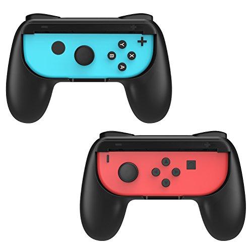 MoKo Nintendo Switch Steering Wheel, [2 Stück] Racing Griff Lenkradabdeckung Lenkradschoner Lenkrabezug Lenkradhülle für Nintendo Switch Joy-con Controller, Schwarz