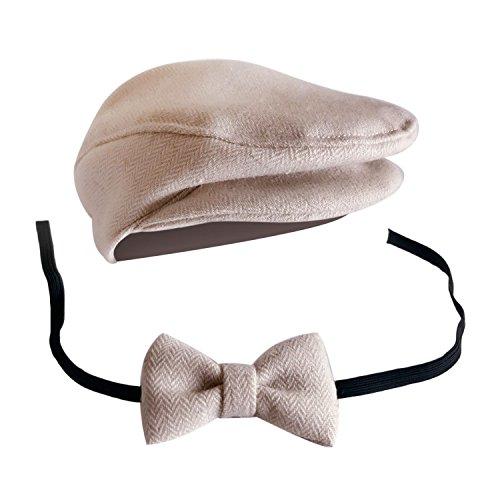 leman Stil Neugeborenen Baby Boys Stockfotos Cap Hat Bow Krawatte Props Kostüm Kleidung Kopfschmuck Zubehör A (Erstellen Sie Ihr Eigenes Kostüm)