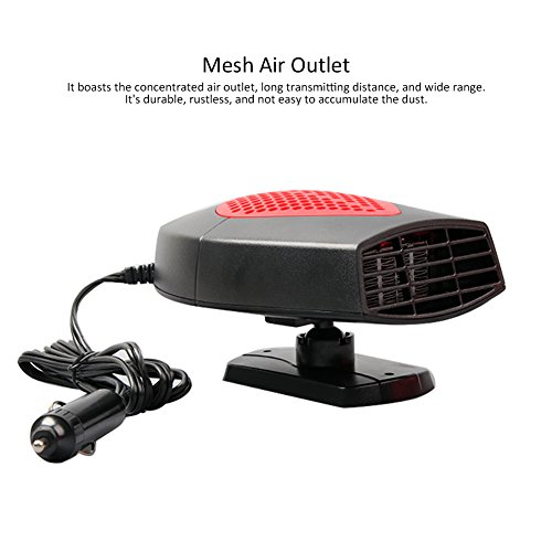 portable car heater 12v car fan heater automobile heater warmer and defroster for easy snow. Black Bedroom Furniture Sets. Home Design Ideas