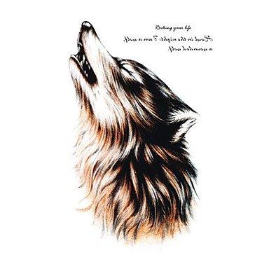 Body Art Beauty Makeup Cool Wolf Wolfing Wasserdicht temporäres Tattoo Aufkleber (2017 Halloween Veranstaltungen)