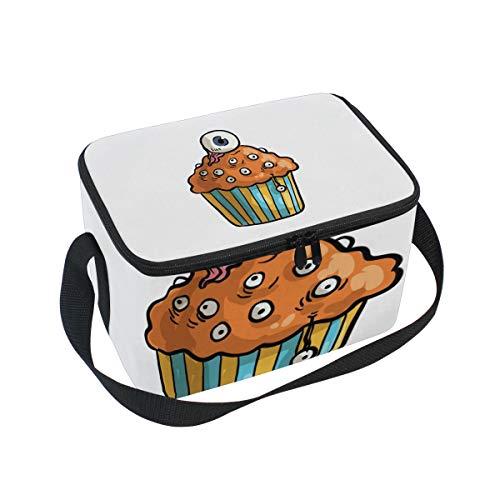 MONTOJ Kühltasche für Mittagessen, Halloween, Cupcake-Motiv