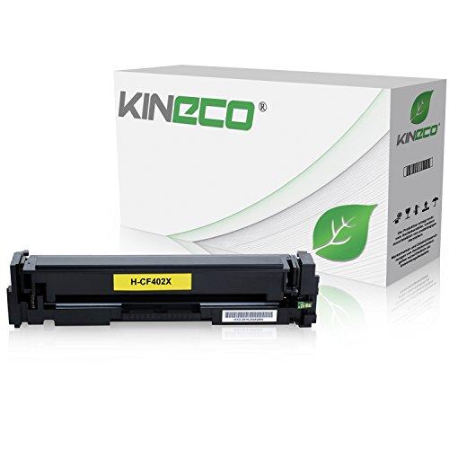 Kineco Toner kompatibel zu HP CF402X Laserjet Pro MFP M277dw, Laserjet Pro MFP M277n, Laserjet Pro MFP M274n, Laserjet Pro M252dw, Laserjet Pro M250 Series - 201X - Yellow 2.300 Seiten