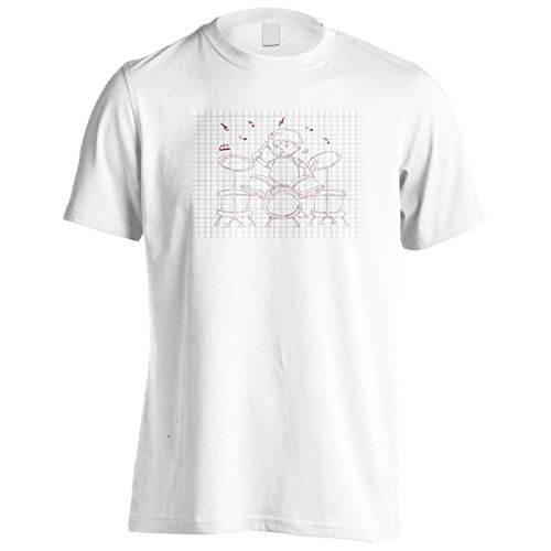 Ragazzo che gioca musica divertente novità Uomo T-shirt f562m White