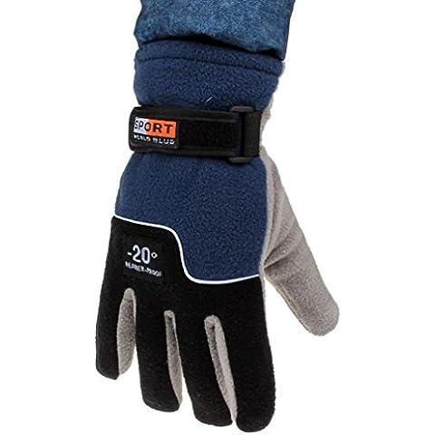Malloom® guantes a prueba de viento Hombres térmicas Guantes de invierno esquí motocicleta nieve