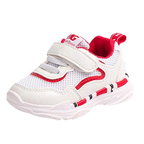 FeiliandaJJ Babyschuhe Kleinkind Jungen Mädchen Kinder Casual Turnschuhe Mesh Weichen Laufenden Brief Schuhe (EU:24(15cm), Rot) (Für Kleinkinder Rote Converse)