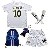 2018/2019 Paris #10 Neymar JR Auswärts Kinder Fußball Trikot Hose und Socken (18 (3-4 Jahre))