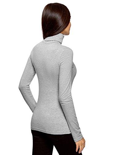 oodji Ultra Damen Langarmshirt Basic mit Rollkragen (2er-Pack) Grau (2000M)