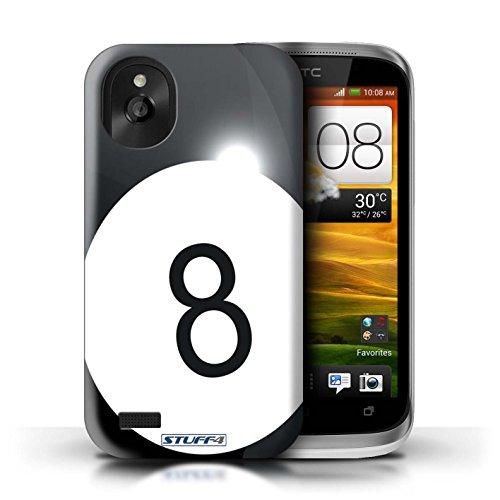 Kobalt® Imprimé Etui / Coque pour HTC Desire X / Rugby conception / Série Balle Sportif Billard/Pool