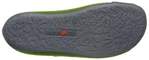 Haflinger Unisex-Erwachsene Future Flache Hausschuhe Grün (Grasgrün 36)