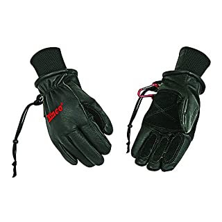 KINCO 90MAX-M Men's Pigskin Ski Glove, Revive Waterproofing, Heat Keep Thermal Lining, Medium, Black