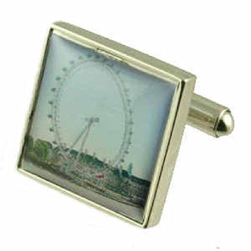 Boutons de manchettes Boutons de manchette Londres~Landmark London Eye de manchette Pochette Cadeau Sélectionner