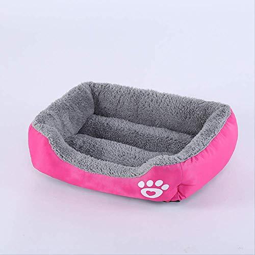 YYII Heimtierbedarf Kleine und mittlere Hunde Zwinger Mat Candy Color Pet Nest Square Warm Dog Kennel