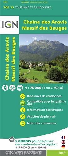Chaîne des Aravis - Massif des Bauges ign (Ign Map)