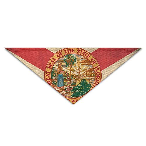 Florida State Head (Osmykqe Florida State Flag Art Pet Bandana Triangle Dog Cat Neckerchief Bibs Scarfs Accessories for Pet Cats and Baby Puppies)