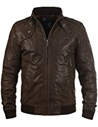 SOLID - 6119500 - Veste en cuir véritable - Homme 55a9f5a273d0