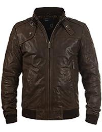 SOLID - 6119500 - Veste en cuir véritable - Homme